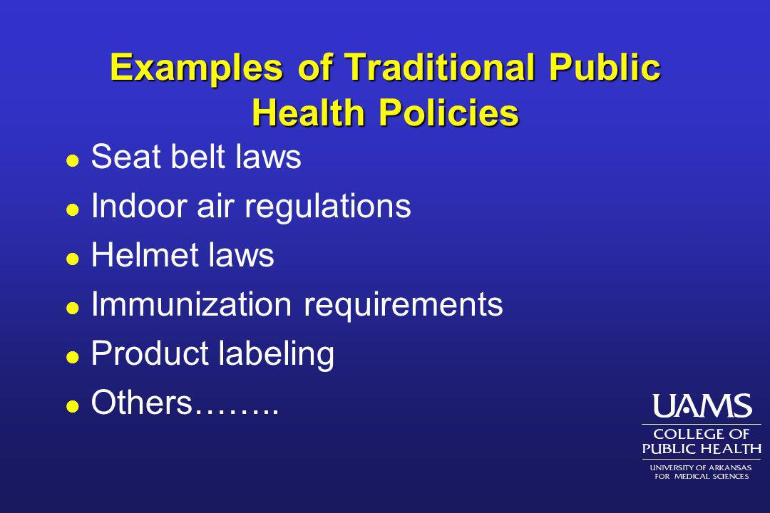 What Policies and Policy-makers are Relevant to Public Health.