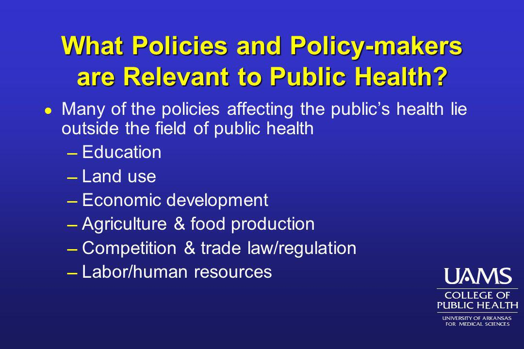 What Are Our Policy Instruments.