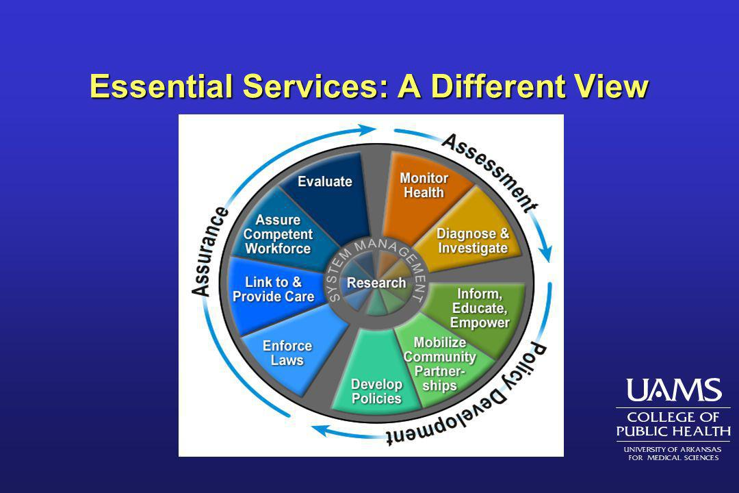 Essential Services: A Different View