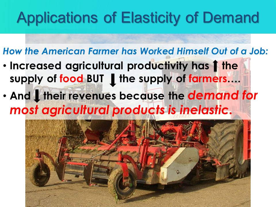 How the American Farmer has Worked Himself Out of a Job: Increased agricultural productivity has the supply of food BUT the supply of farmers…. And th