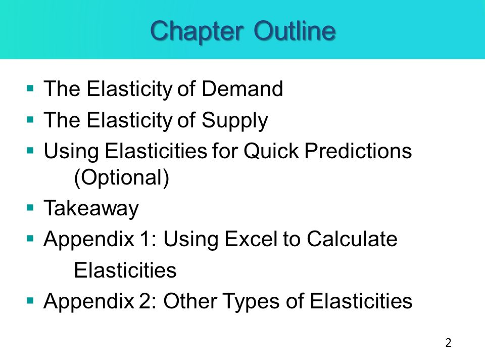Elasticity of Demand We know there is an inverse relationship between price and quantity demanded.