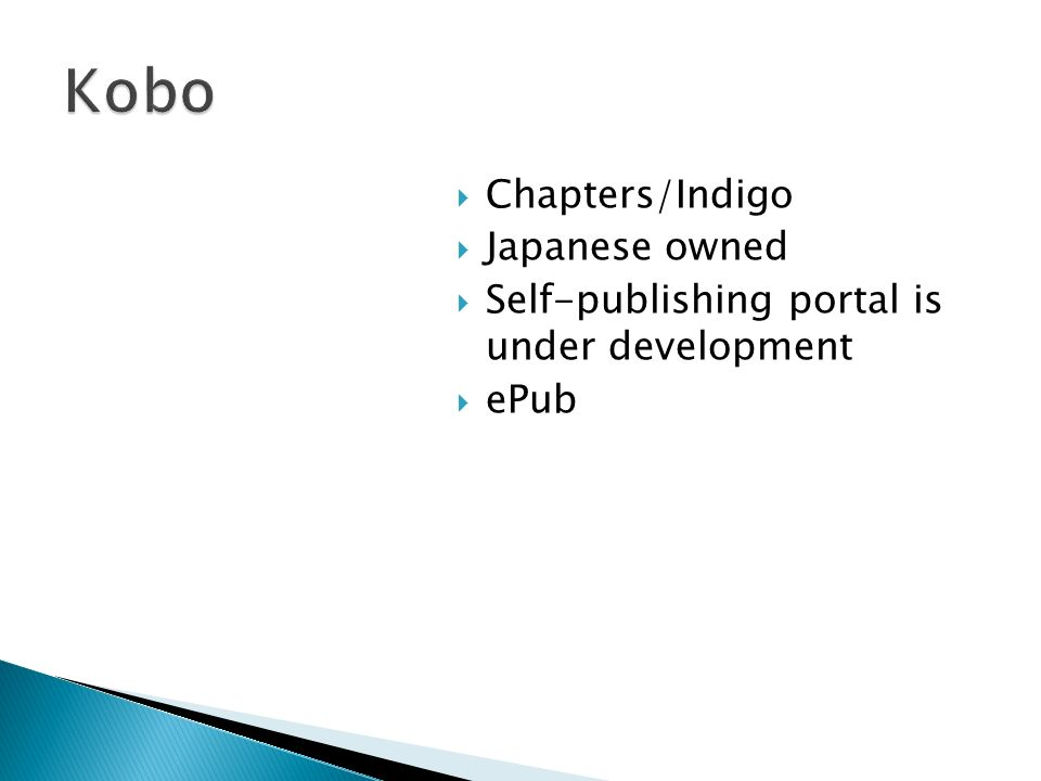 Chapters/Indigo Japanese owned Self-publishing portal is under development ePub