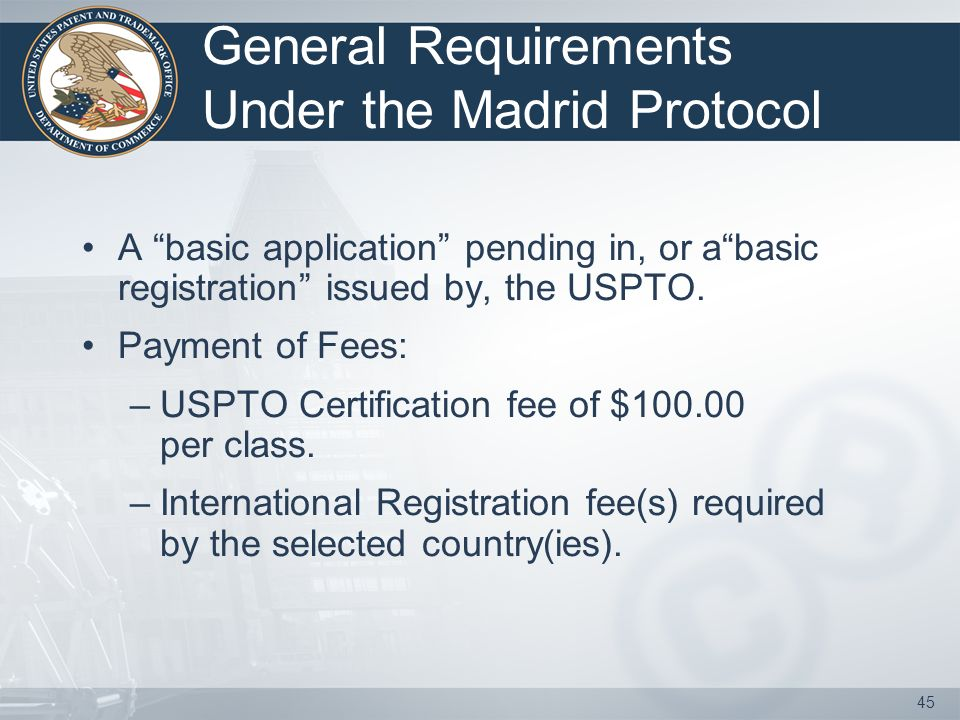 44 What is the Madrid Protocol.