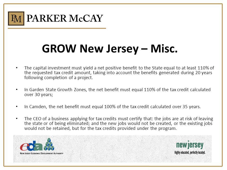 GROW New Jersey – Misc.
