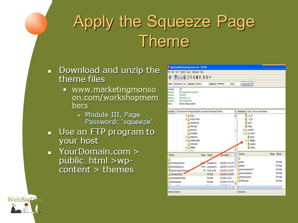 Activate the Theme Go to WP-Admin > Appearance > Themes Go to WP-Admin > Appearance > Themes Click to activate Click to activate