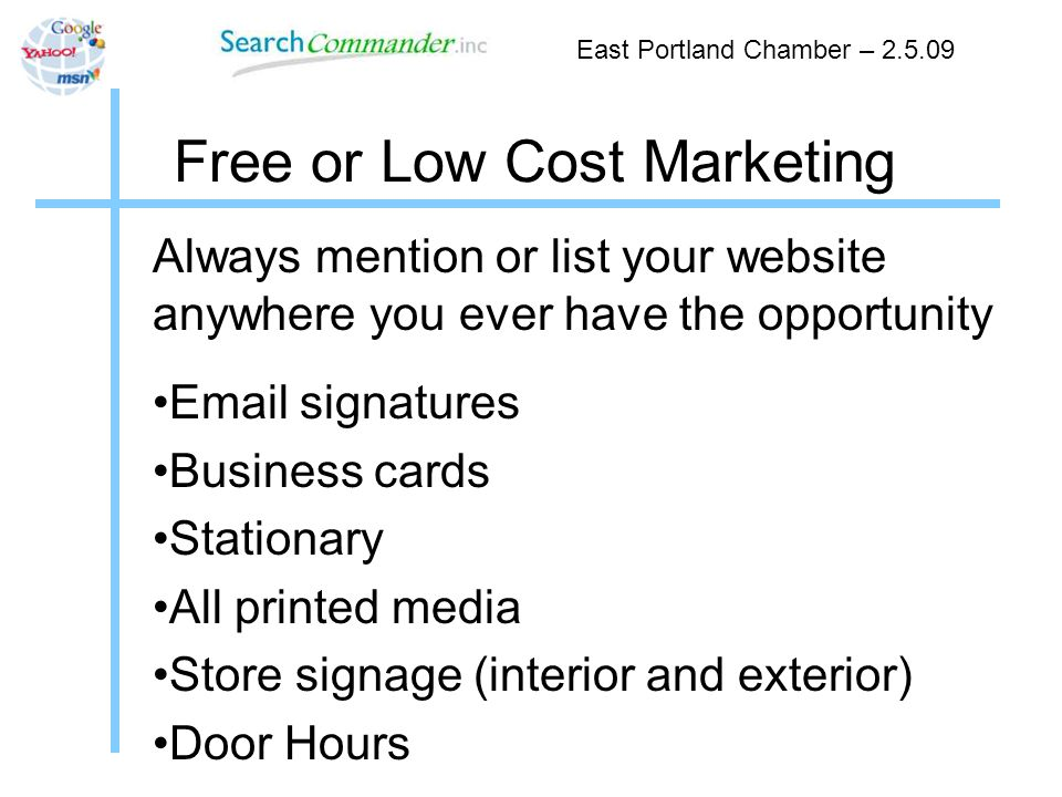 Free or Low Cost Marketing You NEED This Help a reporter out HARO Peter Shankman East Portland Chamber – 2.5.09