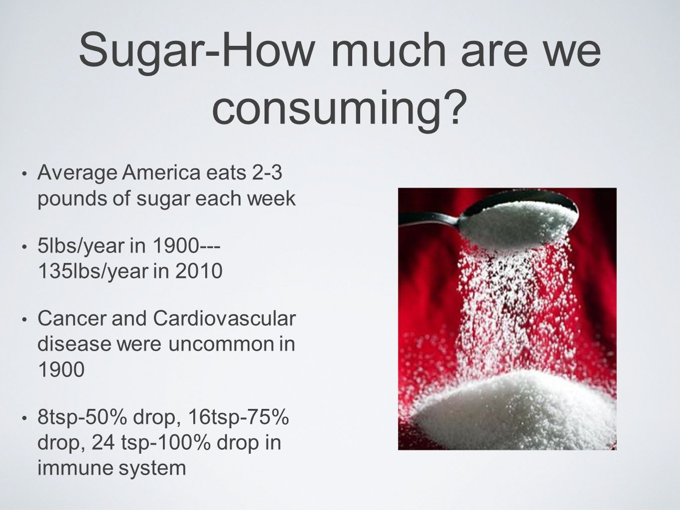 Sugar-How much are we consuming.