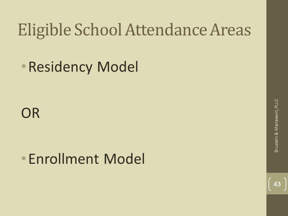 Eligible School Attendance Areas Residency Model OR Enrollment Model 43 Brustein & Manasevit, PLLC