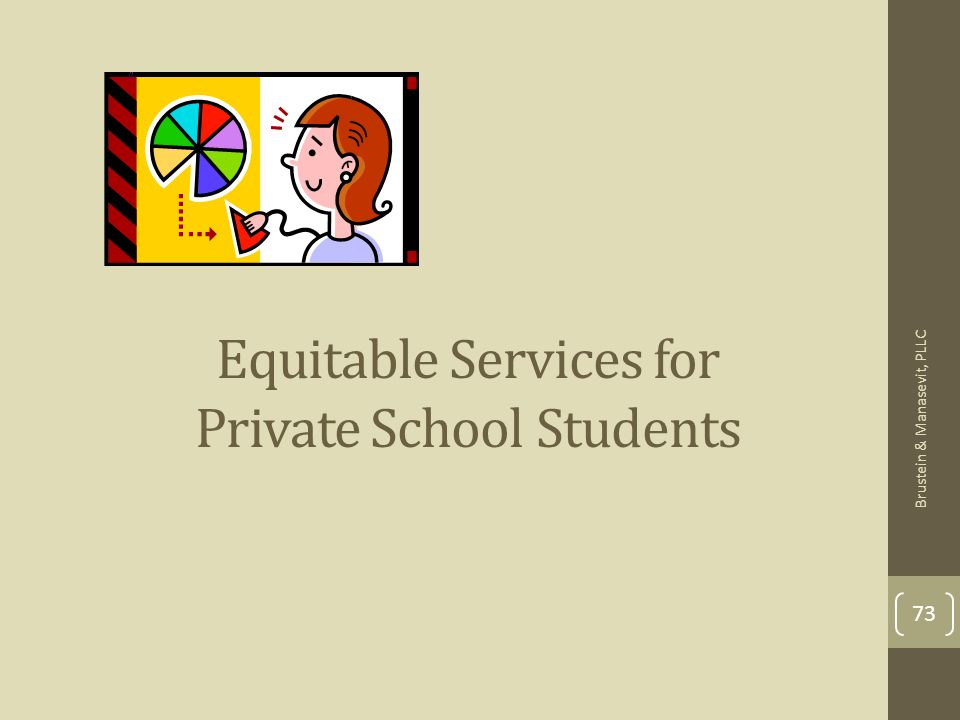 73 Equitable Services for Private School Students Brustein & Manasevit, PLLC