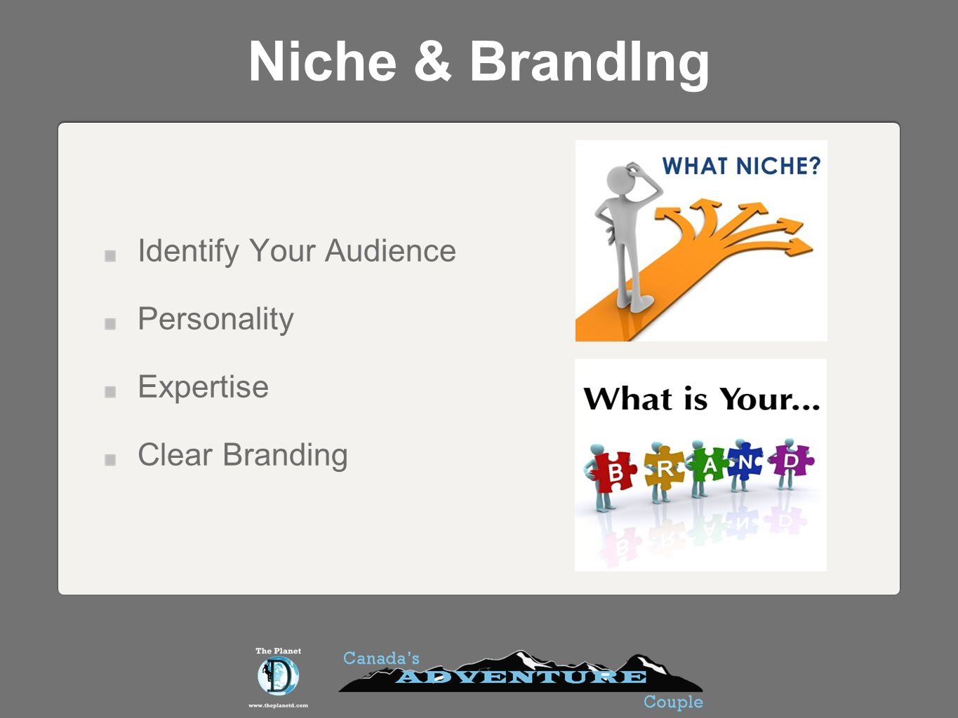 Niche & BrandIng Identify Your Audience Personality Expertise Clear Branding