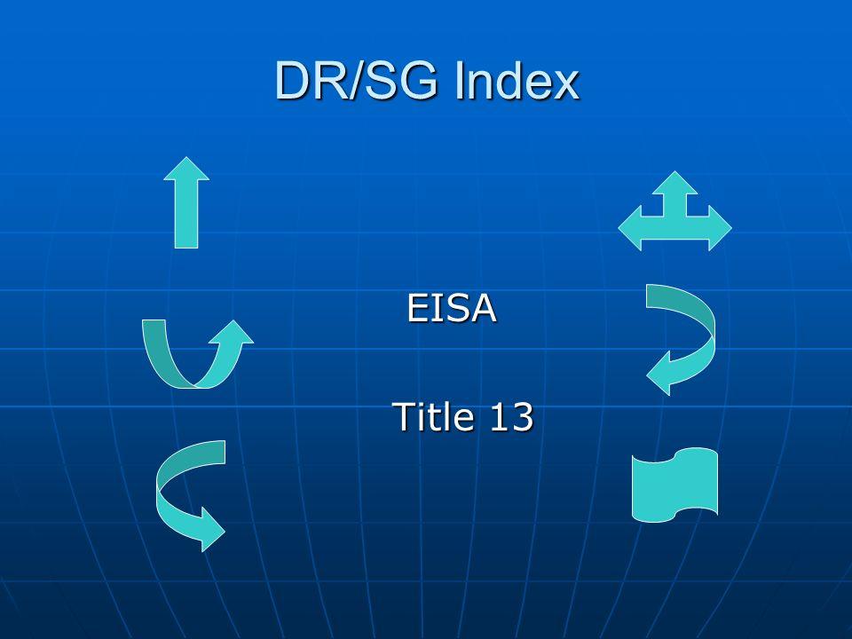 DR/SG Index EISA EISA Title 13