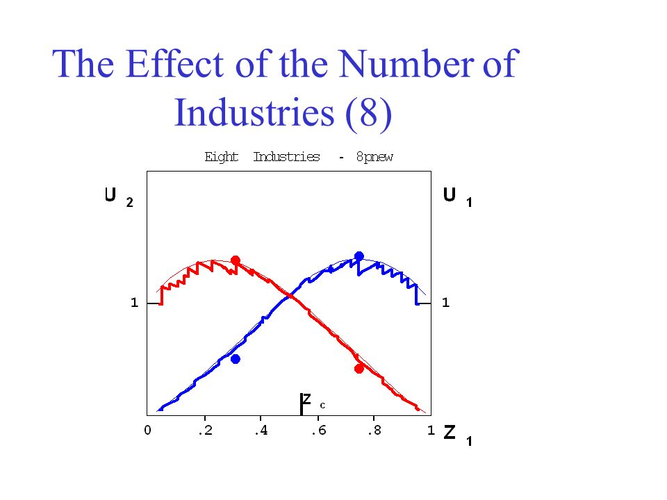 The Effect of the Number of Industries (8)