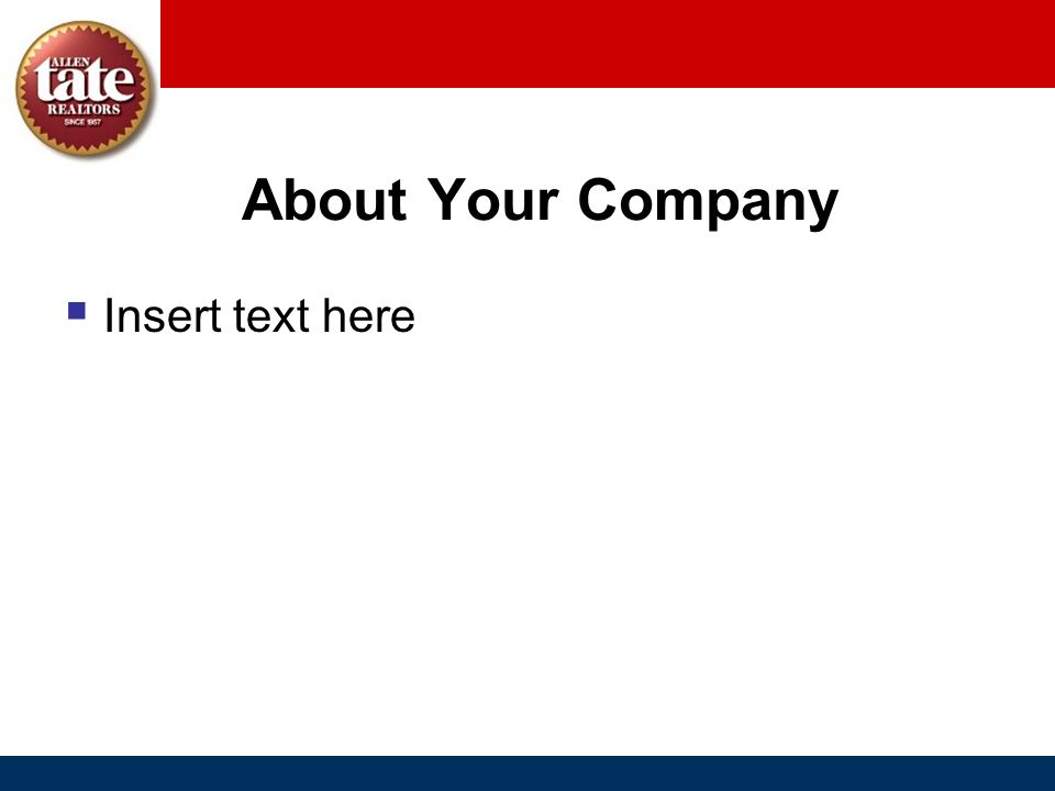 About Your Company Insert text here
