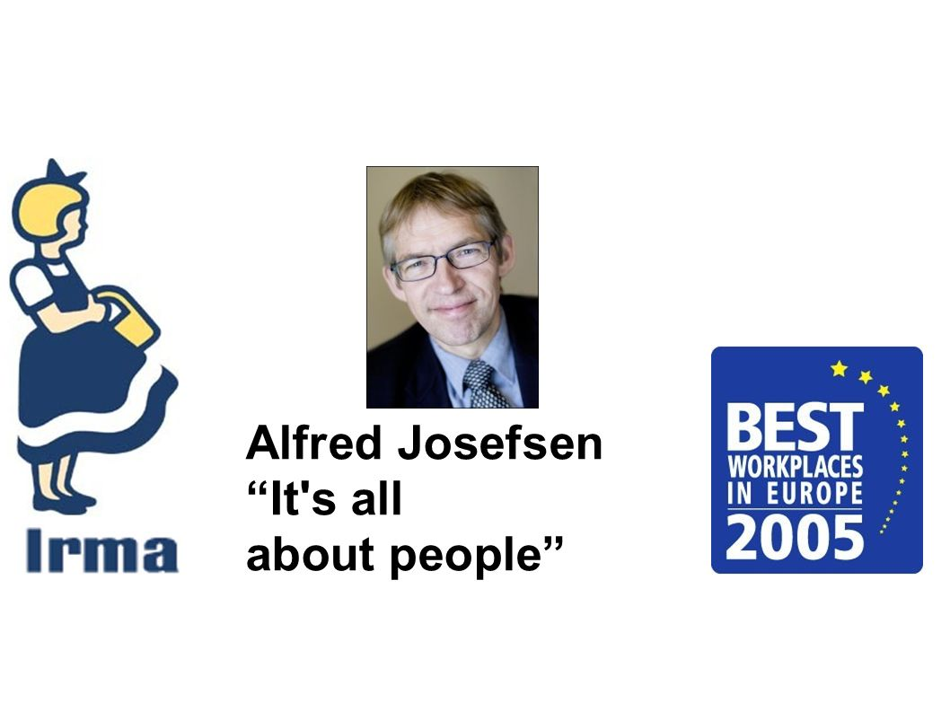 Alfred Josefsen It s all about people