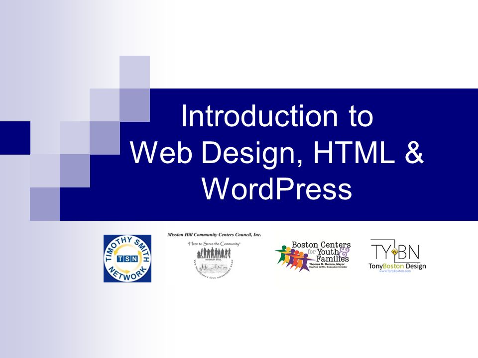 Introduction to Web Design, HTML & WordPress