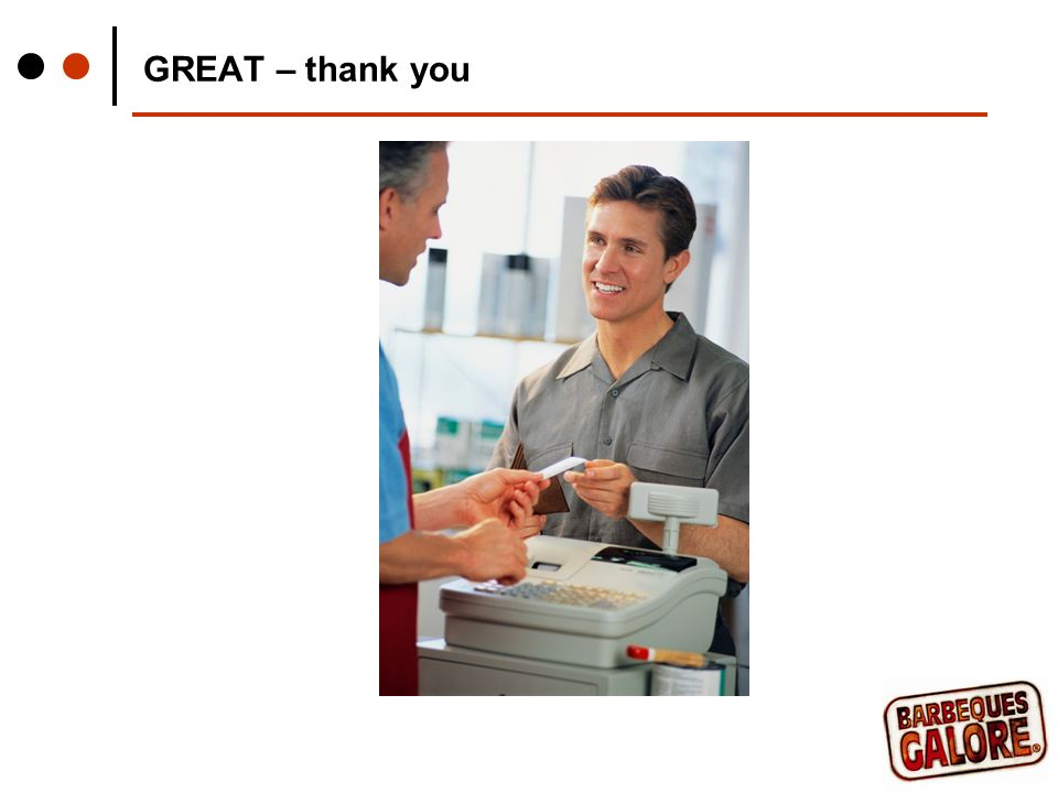GREAT – thank you
