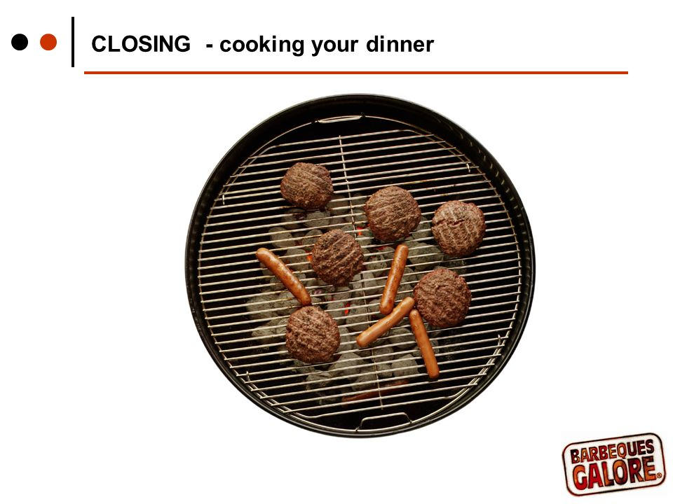 CLOSING - cooking your dinner