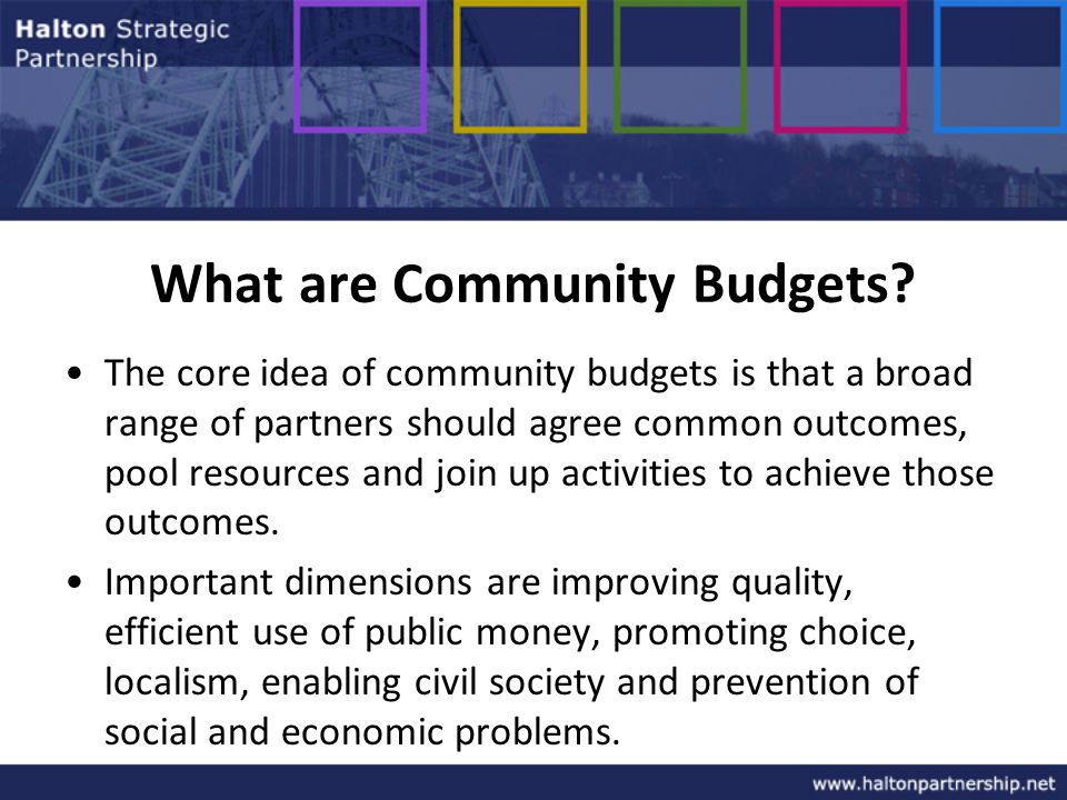 What are Community Budgets.