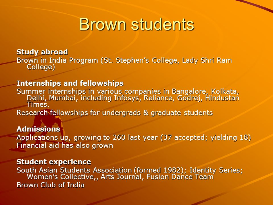 Brown students Study abroad Brown in India Program (St.