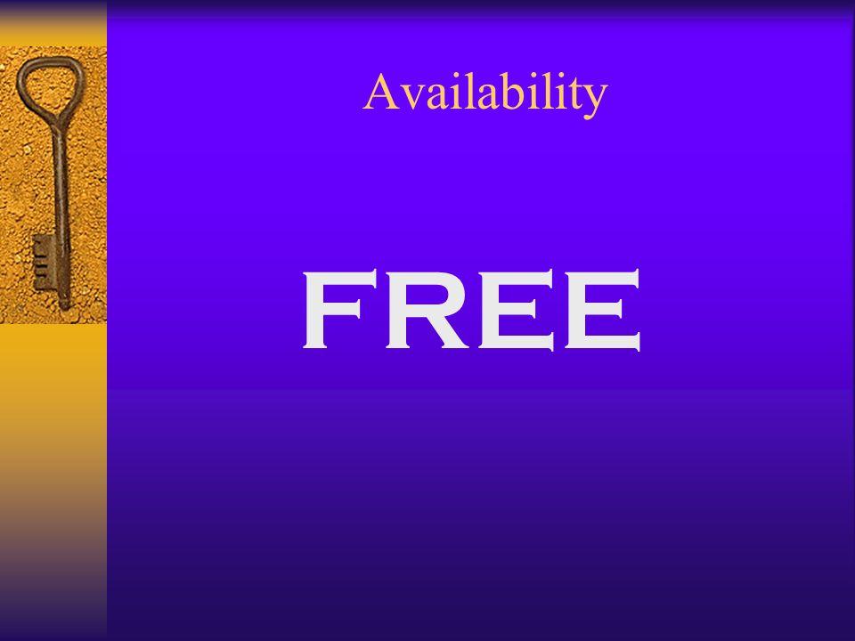 Availability FREE