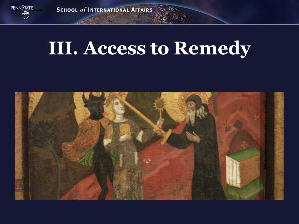 III. Access to Remedy