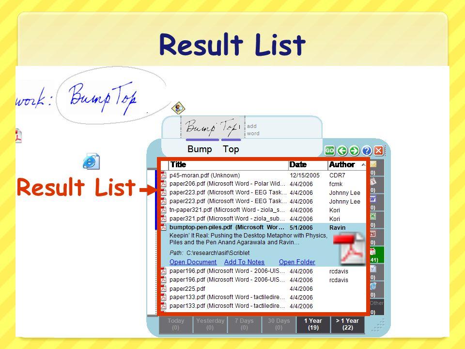 Result List