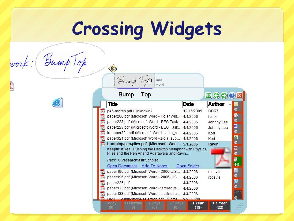 Crossing Widgets