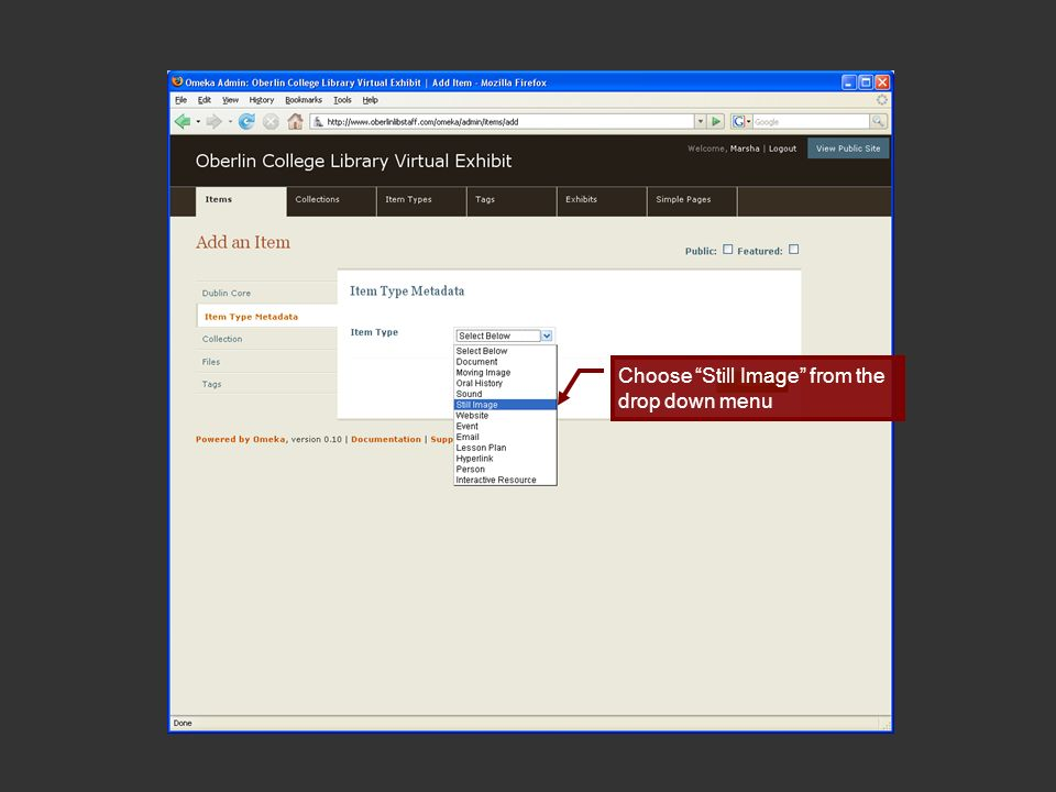 Fill in the Original Format and Physical Dimension of the original Click Add Item