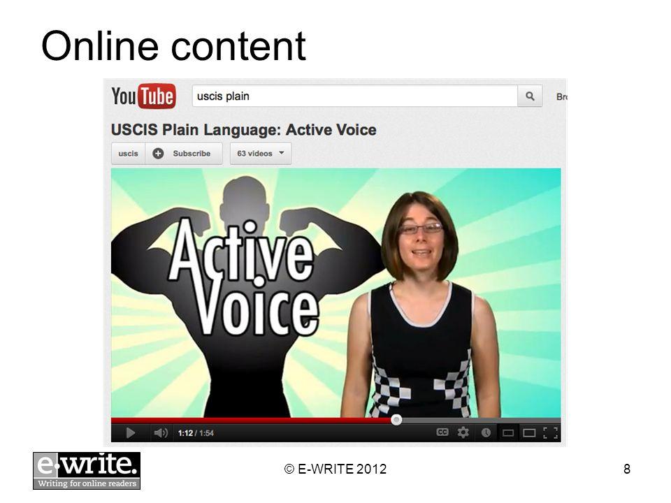 Online content © E-WRITE 20128