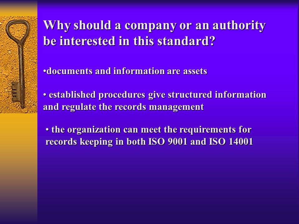 the organization can meet the requirements for records keeping in both ISO 9001 and ISO 14001 the organization can meet the requirements for records k