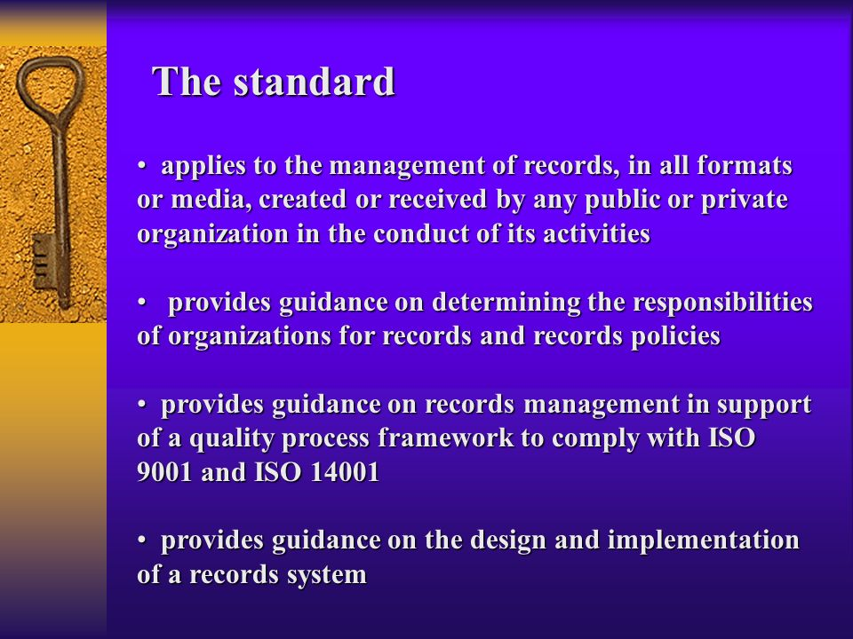 Does not include the management of archival records within archival institutions