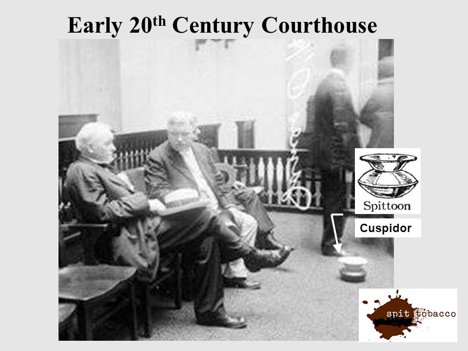 Early 20 th Century Courthouse Cuspidor