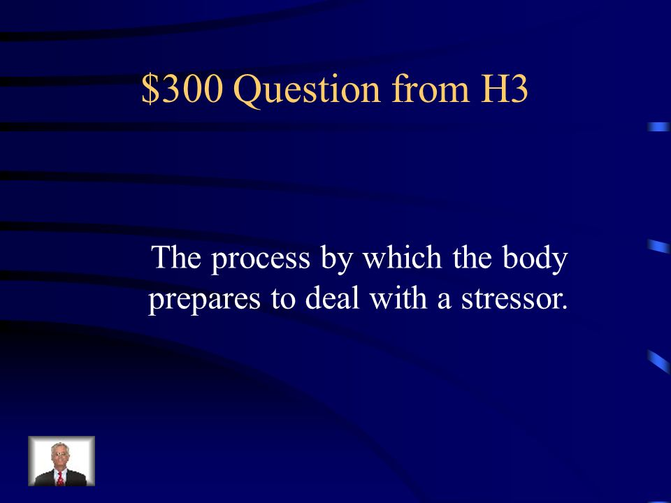 $200 Answer from H3 Stressor