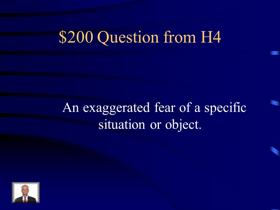 $100 Answer from H4 Disorder