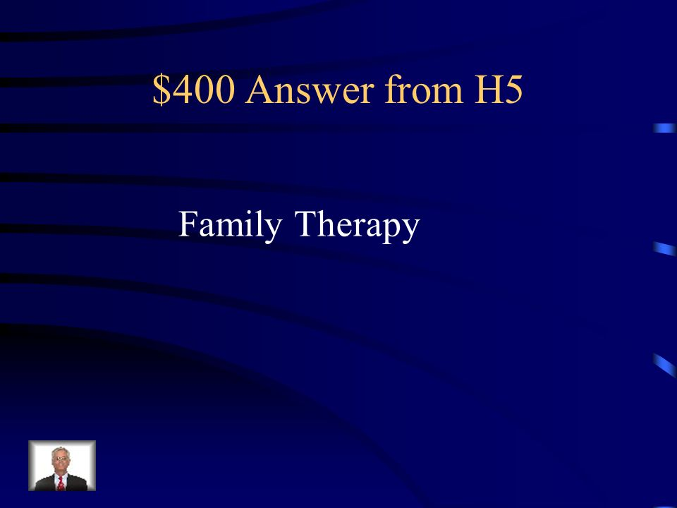 $400 Question from H5 Counseling that seeks to improve troubled family relationships.