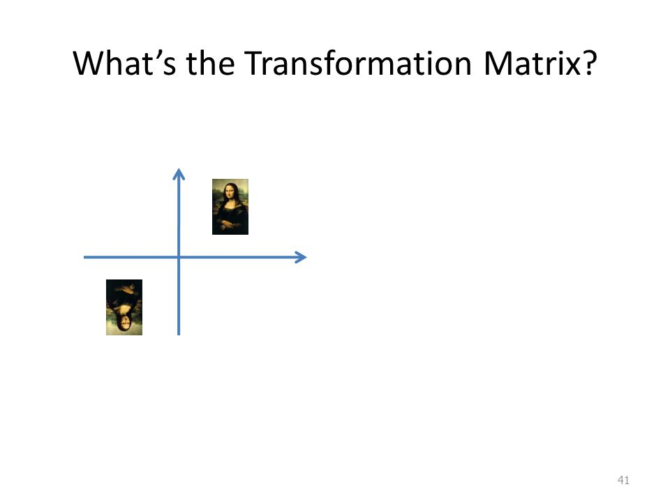 41 Whats the Transformation Matrix?