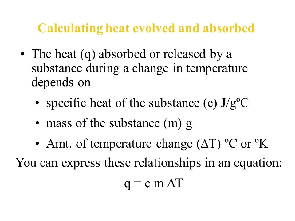 The specific heat of any substance is the amount of heat required to raise the temperature of one gram of that substance by one degree Celsius. Specif