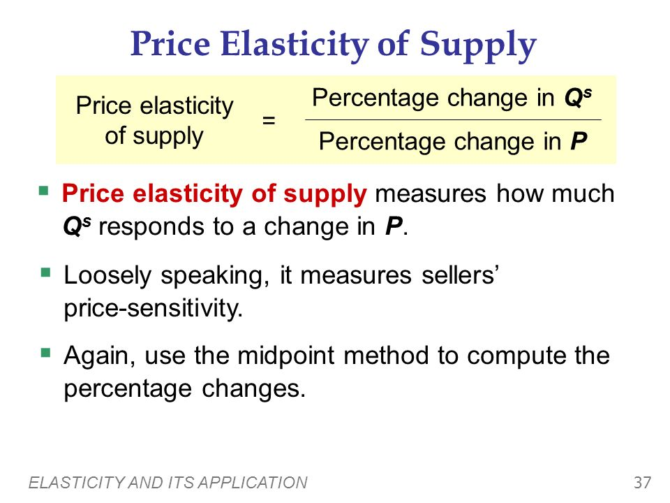 ELASTICITY AND ITS APPLICATION 36 Policy 2: Education Price of Drugs Quantity of Drugs D1D1 S P1P1 Q1Q1 D2D2 P2P2 Q2Q2 Education reduces the demand fo