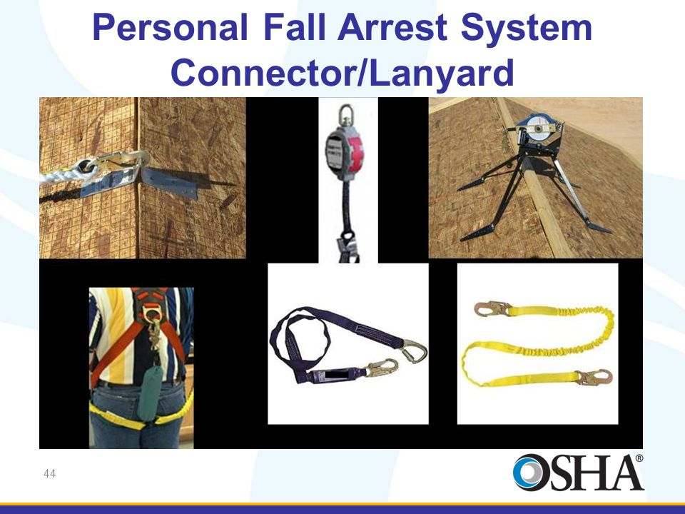 44 Personal Fall Arrest System Connector/Lanyard