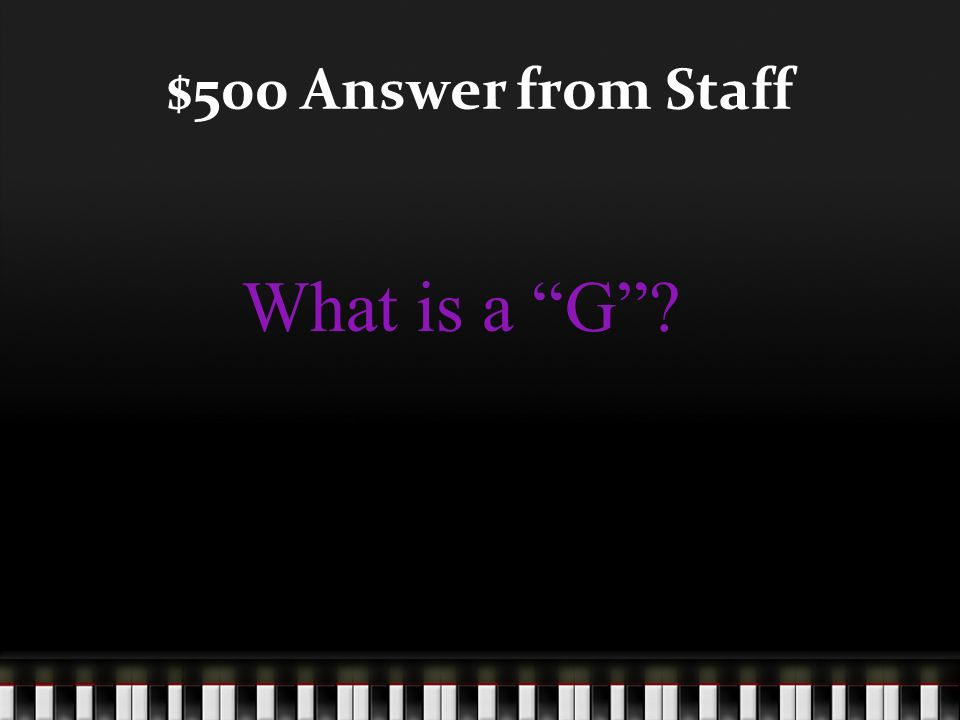 $500 Question from Staff This note is on the 4 th space of the bass clef staff