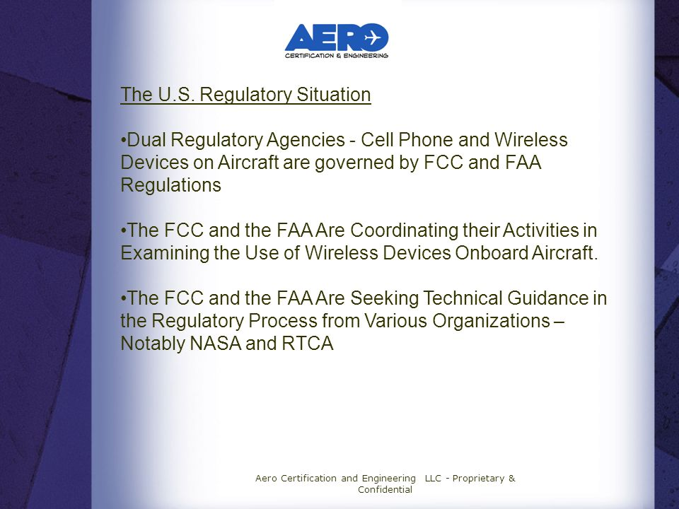 Aero Certification and Engineering LLC - Proprietary & Confidential The U.S.