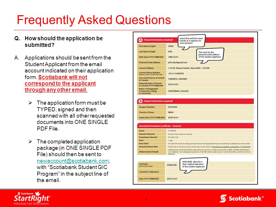 5 Frequently Asked Questions Q.What is the timeframe for the entire GIC application process.
