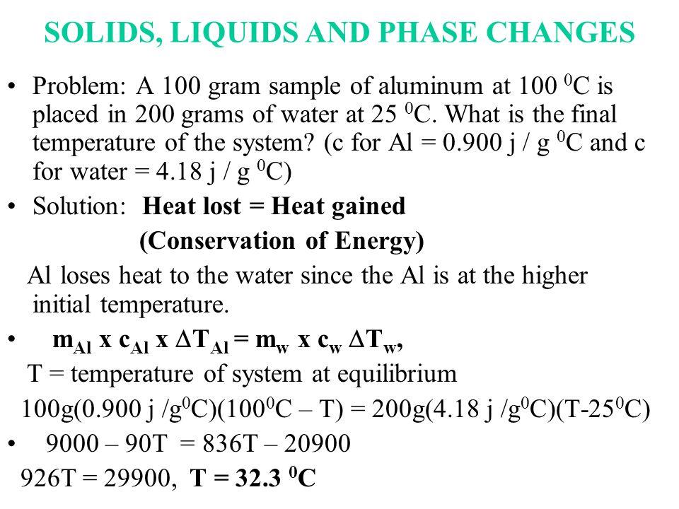 PRESSUREPRESSURE TEMPERATURE GAS SOLID LIQUID PHASE DIAGRAM TRIPLE POINT a b c d e f g a = freezing b = melting c = vaporization d = condensation e= deposition f = sublimation g = critical point