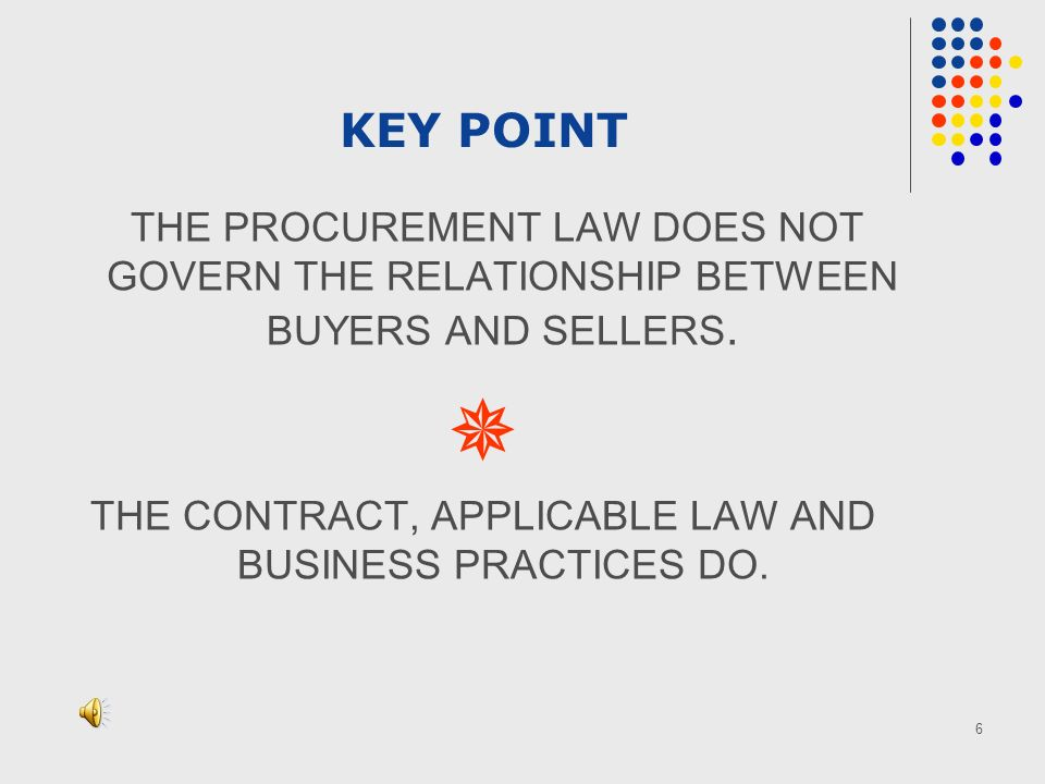 7 Procurement laws and models Typical Main Elements Methods of Procurement and Conditions (ICB, NCB, LIB, ISH,DIR) Tendering Proceedings Alternative methods of Procurement Detailed List of Minimum Elements UNCITRAL Model Law Country status.