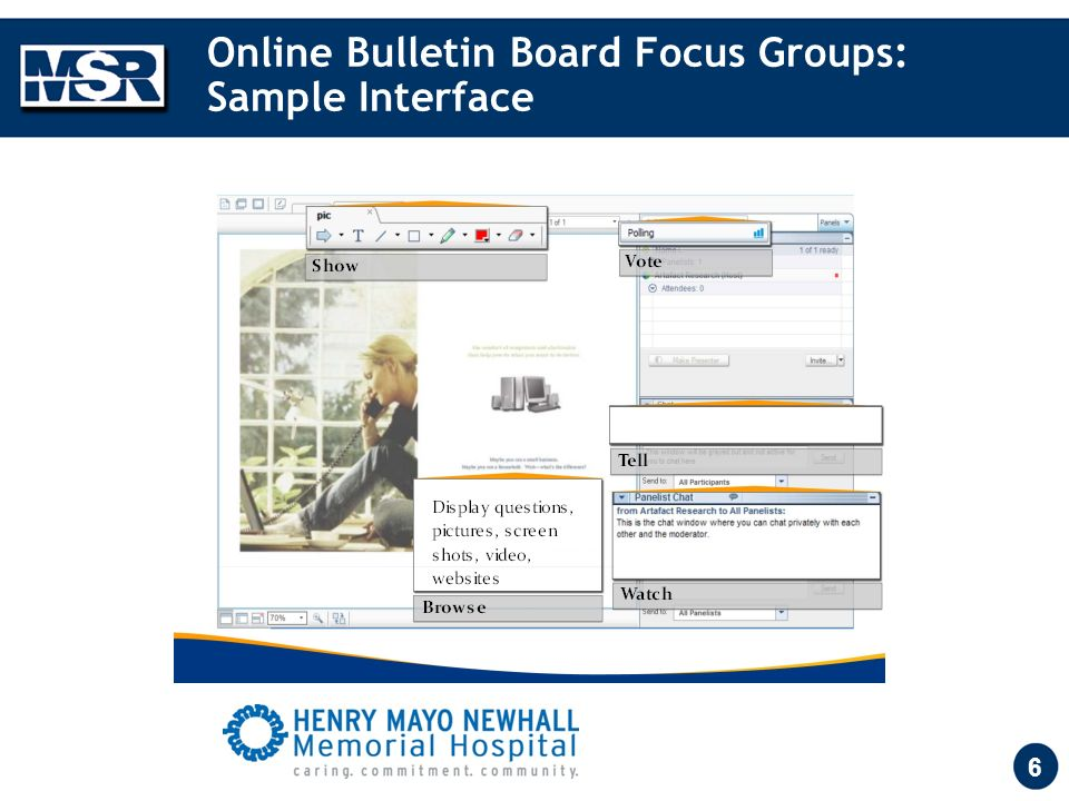 6 Online Bulletin Board Focus Groups: Sample Interface