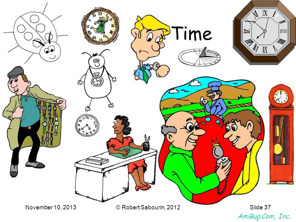 AmiBug.Com, Inc. November 10, 2013© Robert Sabourin, 2012Slide 37 Time