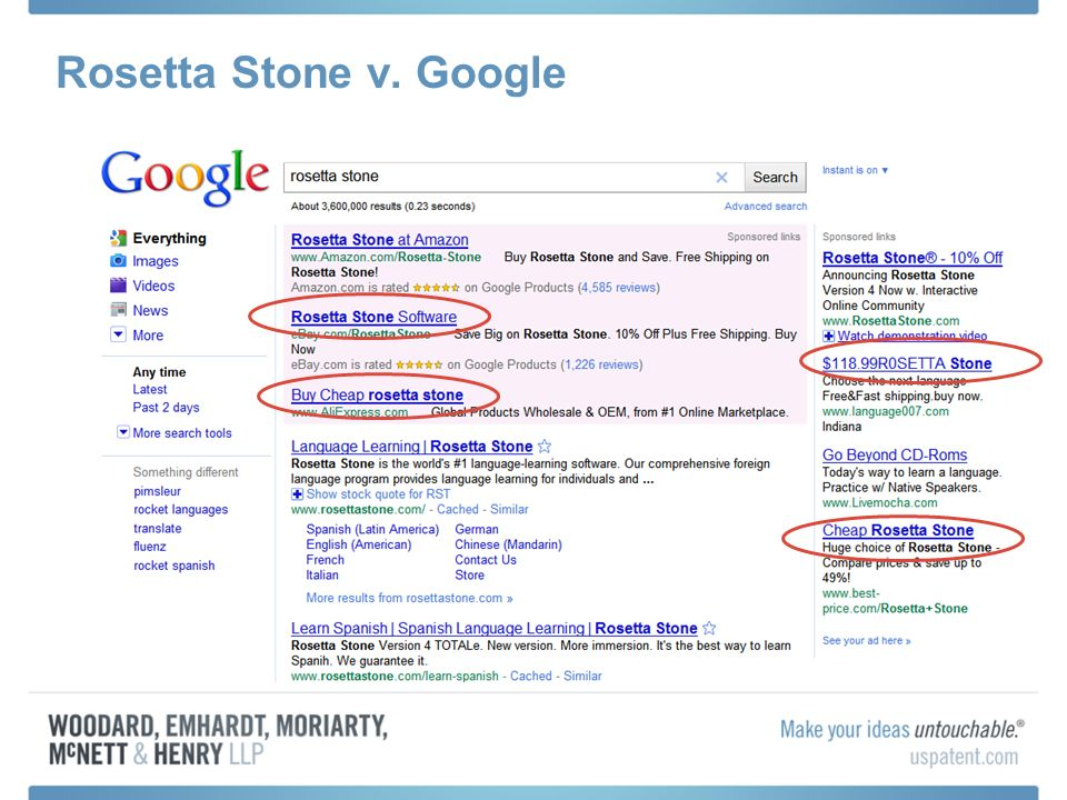 Rosetta Stone v. Google