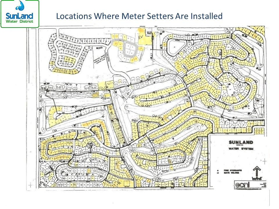 Locations Where Meter Setters Are Installed