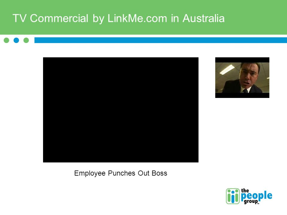 TV Commercial by LinkMe.com in Australia Employee Punches Out Boss
