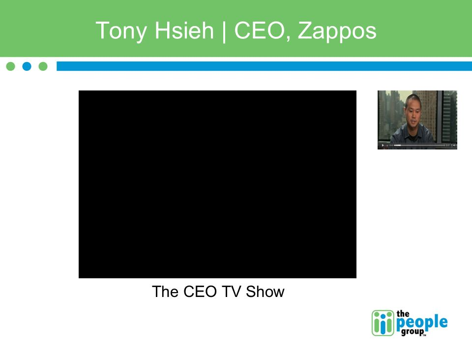 Tony Hsieh | CEO, Zappos The CEO TV Show